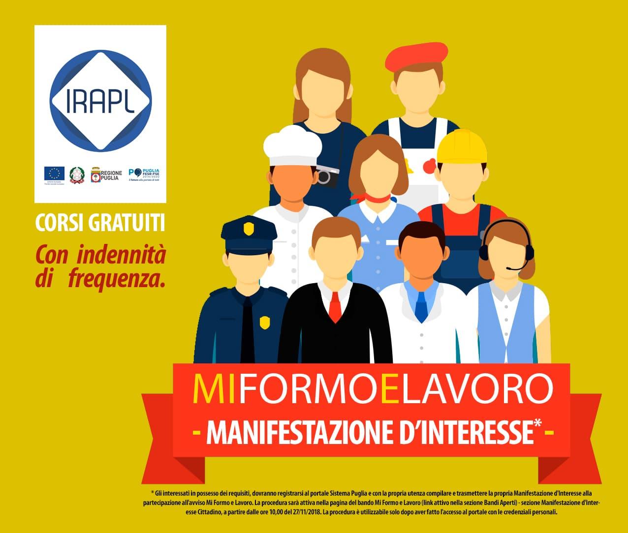 AVVISO:  Manifestazione d'Interesse - Mi Formo e Lavoro