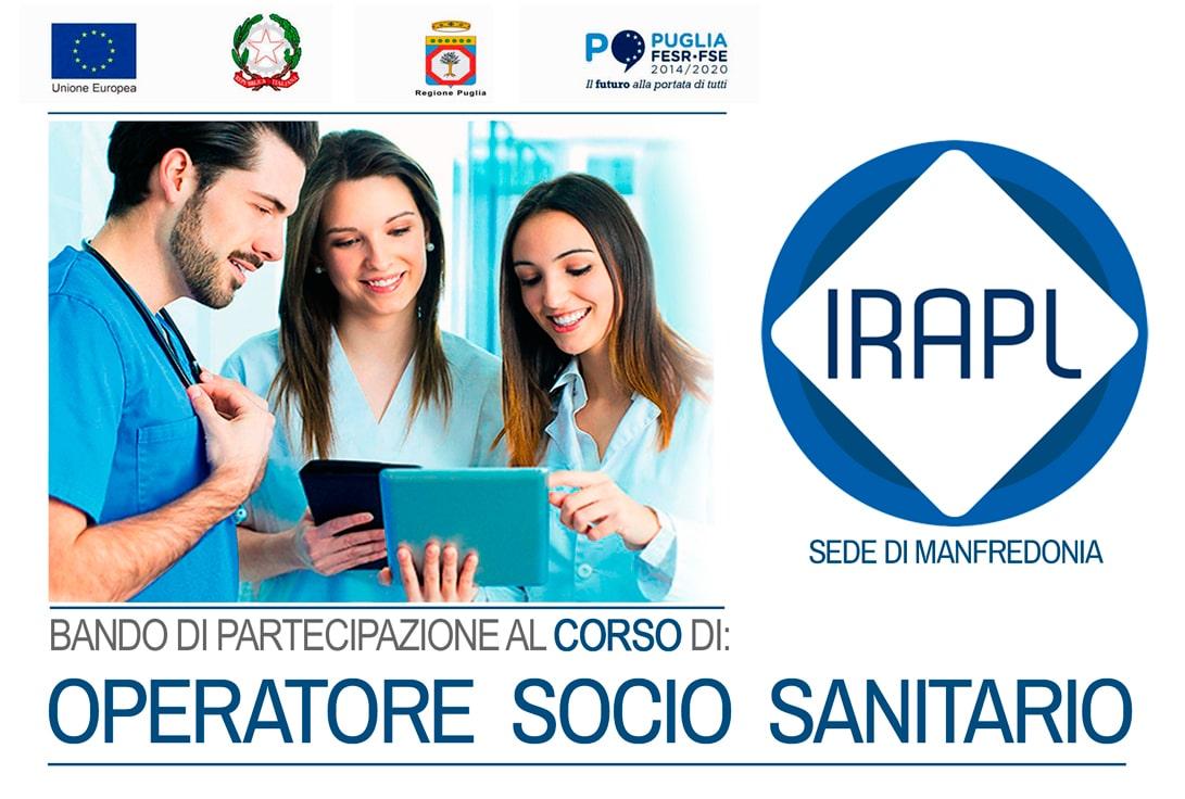 PROVA SCRITTA DI SELEZIONE - Corso Operatore Socio Sanitario OSS  IRAPL sede di Manfredonia