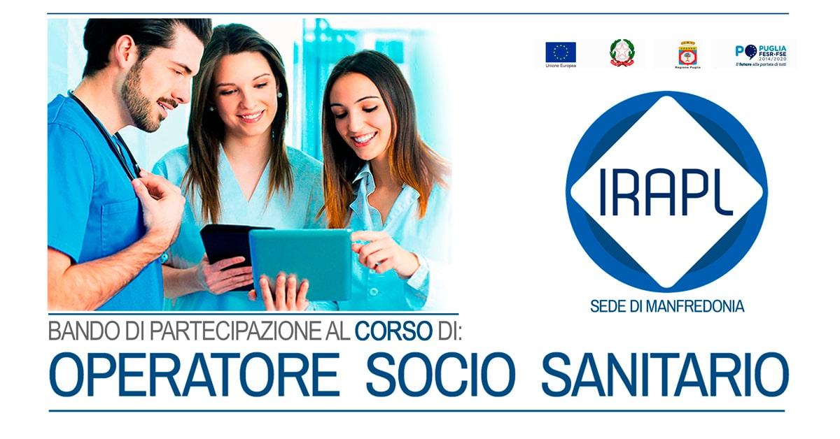 Corso Operatore Socio Sanitario OSS  IRAPL sede di Manfredonia